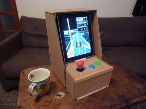 iPad mit Arcade Steuerung