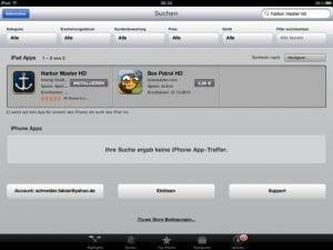 Neue Funktionen am iPad AppStore