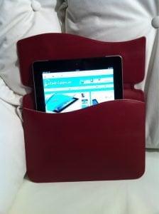 "Apple iPad 2 ""Wave"" Series Echt Leder Schutzhülle"