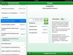 Steuererklärung 2010 für iPad