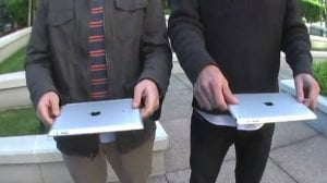 iPad 2 im Falltest