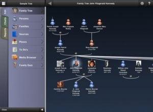 Erforsche deine Vorfahren mit MobileFamilyTree Pro für das iPad (Stammbaumerstellung)