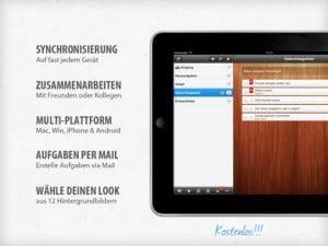 Wunderlist HD, einfach gehaltene intuitive Aufgabenverwaltung