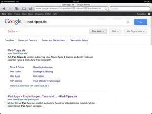 Google auf dem iPad