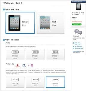 iPad 2 bestellen