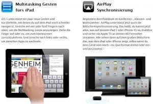 Multitasking und AirPlay auf dem iPad 1 unter iOS 5