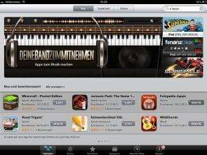 "iPad App Store ""Startseite"" - Nachher"