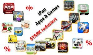 Rabatt auf iPad Apps und iPad Games
